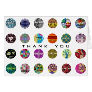 Cartões de agradecimentos 9 de Vartali
