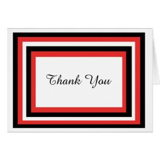 Cartões de agradecimentos à moda vermelhos &