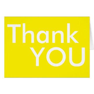 Cartões de agradecimentos amarelos simples