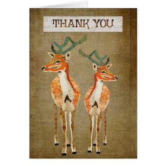 Cartões de agradecimentos ambarinos dos fanfarrões