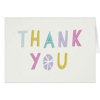 Cartões de agradecimentos ancas do quadril Hooray