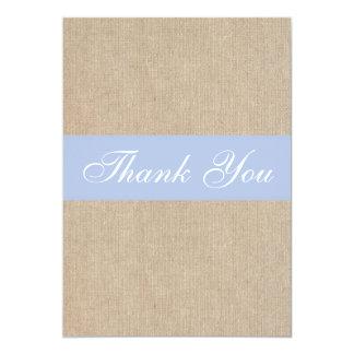 Cartões de agradecimentos azuis de serapilheira do convite 12.7 x 17.78cm