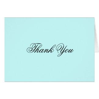 Cartões de agradecimentos azuis macios