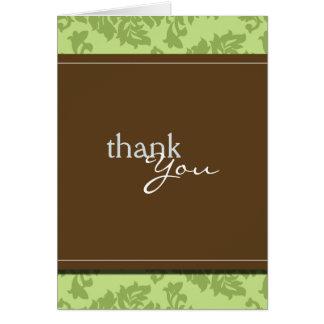 Cartões de agradecimentos barrocos do verde do