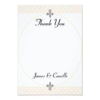 Cartões de agradecimentos bege populares das convite 12.7 x 17.78cm