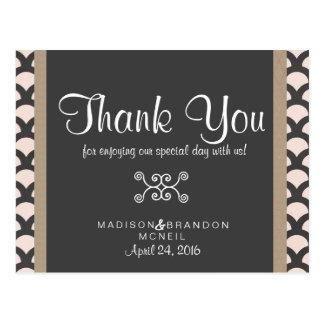 Cartões de agradecimentos bonitos brilhantes de N