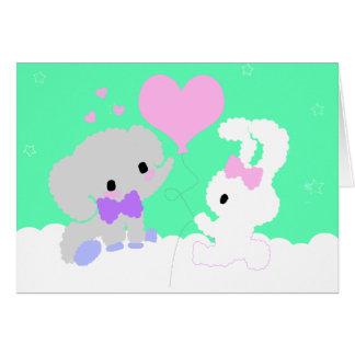 Cartões de agradecimentos bonitos do elefante e do