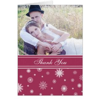 Cartões de agradecimentos brancos do casamento no
