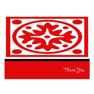 Cartões de agradecimentos brancos do laço cartão postal