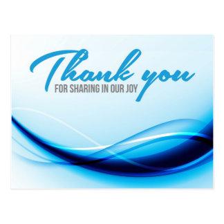 Cartões de agradecimentos cartao postal