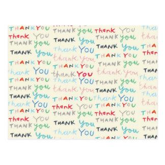 cartões de agradecimentos cartão postal
