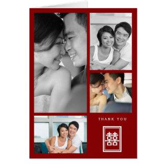 Cartões de agradecimentos chineses do casamento da