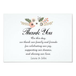 Cartões de agradecimentos chiques clássicos do