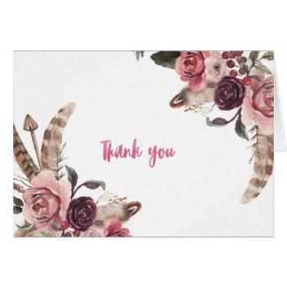 Cartões de agradecimentos chiques do casamento de