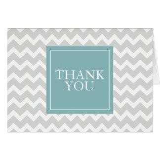 Cartões de agradecimentos cinzentos da viga