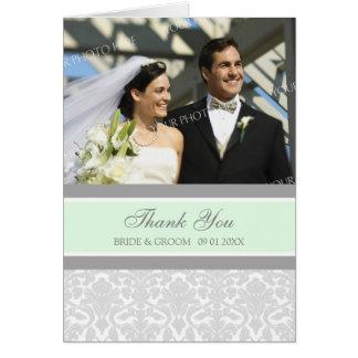 Cartões de agradecimentos cinzentos do casamento