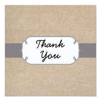 Cartões de agradecimentos cinzentos e bege convites personalizado