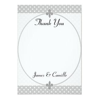 Cartões de agradecimentos cinzentos populares das convite 12.7 x 17.78cm
