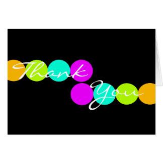 Cartões de agradecimentos coloridos dos pontos