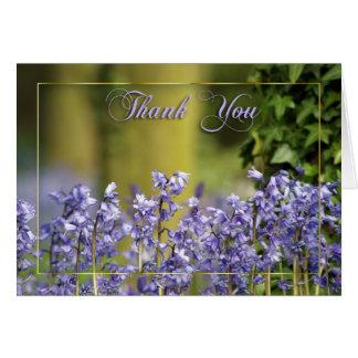 cartões de agradecimentos com bluebells