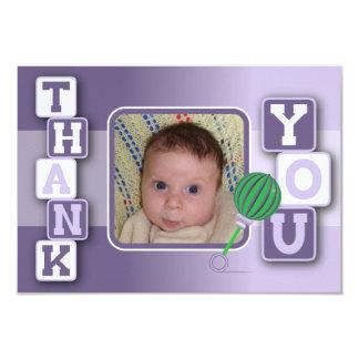 Cartões de agradecimentos com foto - chocalho dos