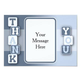Cartões de agradecimentos com quadro de texto