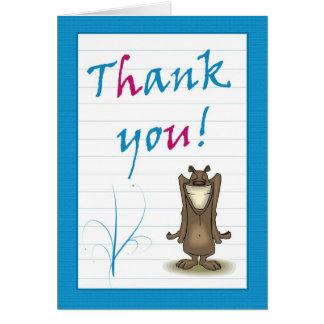 Cartões de agradecimentos com reconhecimento de so