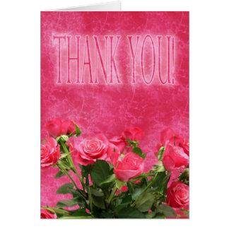 Cartões de agradecimentos com rosas