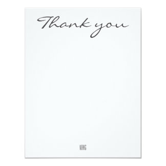 Cartões de agradecimentos convite 10.79 x 13.97cm