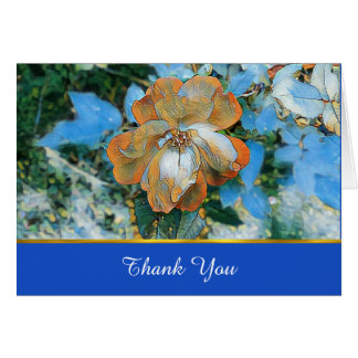 Cartões de agradecimentos cor-de-rosa do