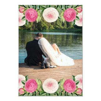 Cartões de agradecimentos cor-de-rosa do casamento convite 8.89 x 12.7cm