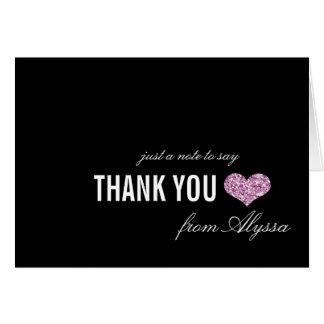 Cartões de agradecimentos cor-de-rosa do doce 16