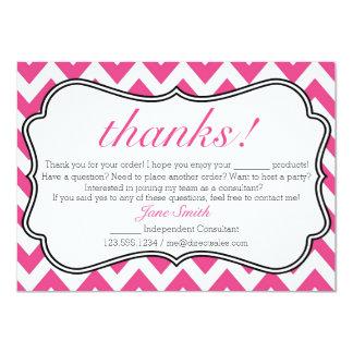 Cartões de agradecimentos cor-de-rosa e brancos do convite 11.30 x 15.87cm
