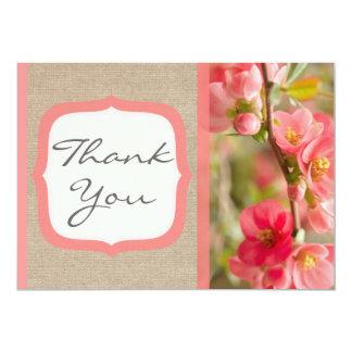 Cartões de agradecimentos corais elegantes de convite personalizados