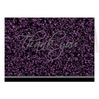 Cartões de agradecimentos - cristais roxos