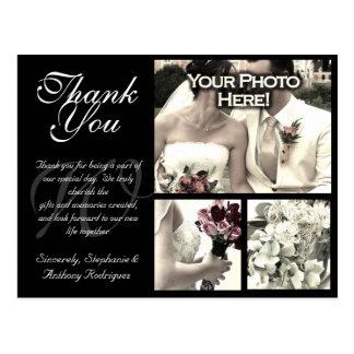 Cartões de agradecimentos customizáveis do casamen cartão postal