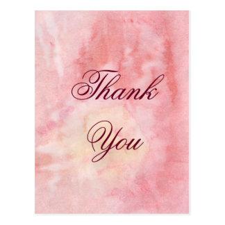 Cartões de agradecimentos da aguarela