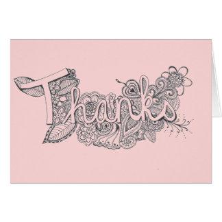 Cartões de agradecimentos da arte de Mehndi