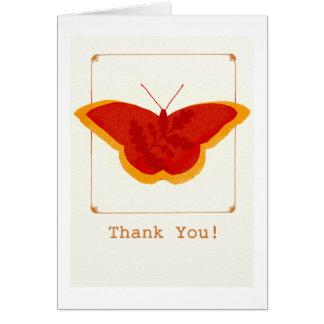 Cartões de agradecimentos da borboleta do outono: