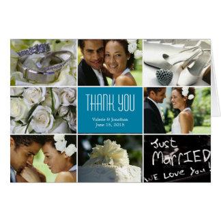 Cartões de agradecimentos da colagem do casamento