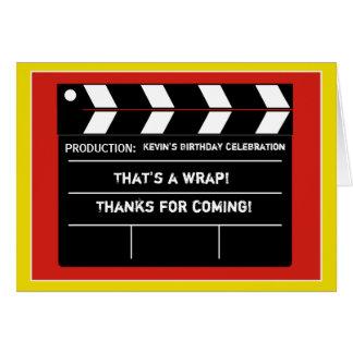 Cartões de agradecimentos da estrela de cinema