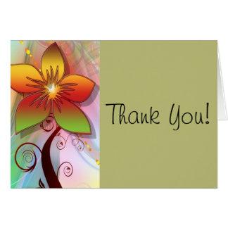 Cartões de agradecimentos da flor