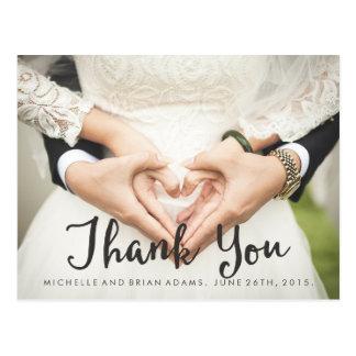 Cartões de agradecimentos da foto do casamento