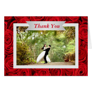Cartões de agradecimentos da foto do casamento da