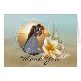 Cartões de agradecimentos da foto do casamento de
