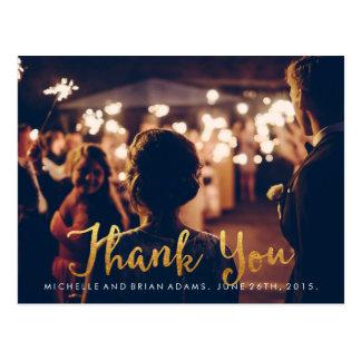 Cartões de agradecimentos da foto do casamento do