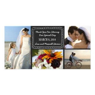 Cartões de agradecimentos da foto do casamento do  cartoes com foto