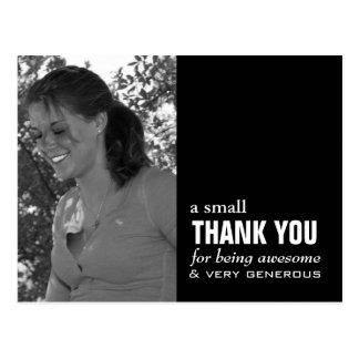 Cartões de agradecimentos da graduação - foto cartão postal