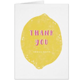 Cartões de agradecimentos da limonada do fazer -