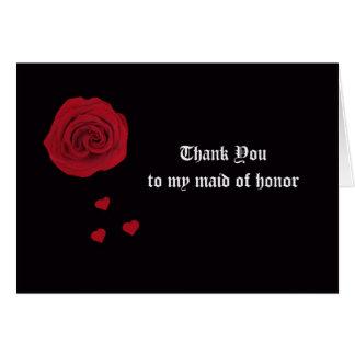 Cartões de agradecimentos da madrinha de casamento